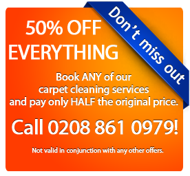 50% off London carpet cleaning