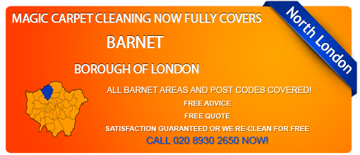 Barnet Borough of London carpet cleaning services: updates and special offers (EN, HA, N, NW post codes)