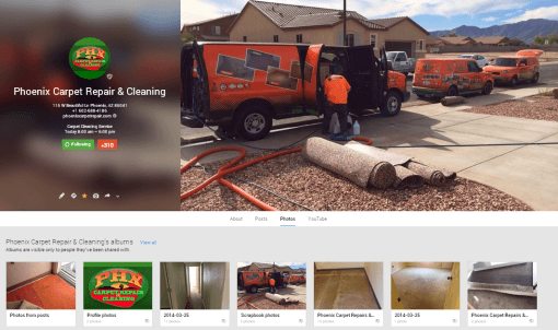 snapshot of the Arizona company's Google Plus page