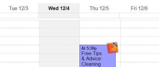 booking made in a calendar