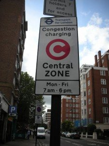A Congestion Charge Zone traffic sign