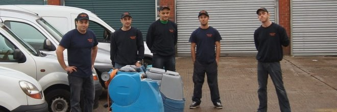 carpet technicians having a group photo