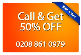 call and get half price (banner)