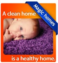 baby on a clean carpet