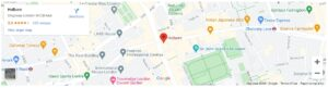 Google Maps screenshot of Holborn, London, UK area.